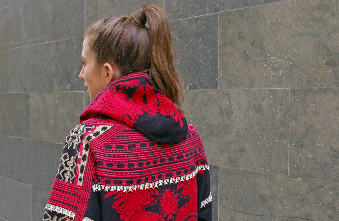 style by bru H&M studio collection outfit Embroidered hoodie